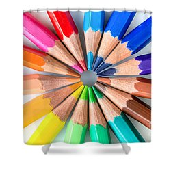 Rainbow Pencils Shower Curtain