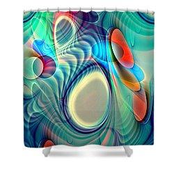 Rainbow Play Shower Curtain by Anastasiya Malakhova