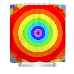 Rainbow Reality Shower Curtain by Mariola Bitner