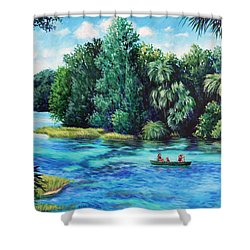Rainbow River At Rainbow Springs Florida Shower Curtain