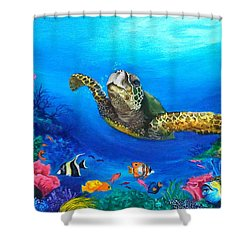 Rainbow Reef Shower Curtain