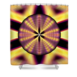Shower Curtain featuring the drawing Rainbow Seed Of Life by Derek Gedney