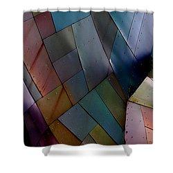 Rainbow Shingles Shower Curtain by Holly Blunkall