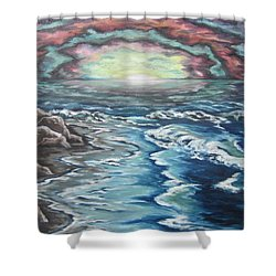 Rainbow Skies Shower Curtain by Cheryl Pettigrew