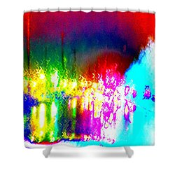 Shower Curtain featuring the photograph Rainbow Splash Abstract by Marianne Dow