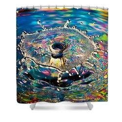 Rainbow Splash Shower Curtain