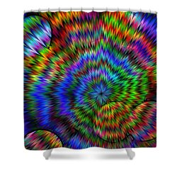 Rainbow Super Nova Shower Curtain