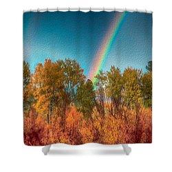 Rainbow Surprise Shower Curtain by Omaste Witkowski