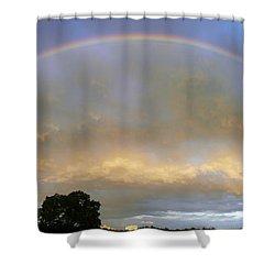 Rainbow Shower Curtain by Tony Cordoza