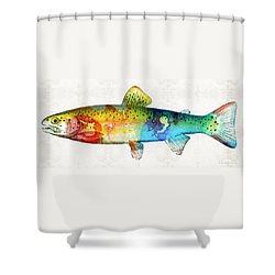 Rainbow Trout Art By Sharon Cummings Shower Curtain by Sharon Cummings