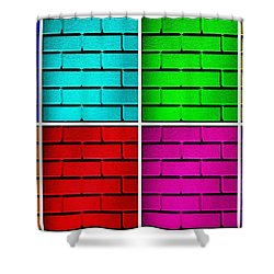 Rainbow Walls Shower Curtain by Semmick Photo