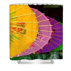 Shower Curtain featuring the photograph New Orleans Rainbowellas by Michael Hoard