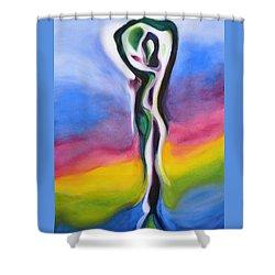 Rainbows Are Promises Shower Curtain
