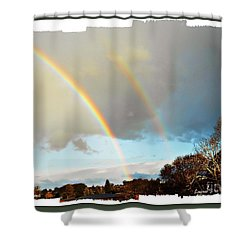 Shower Curtain featuring the photograph Rainbows by Leanne Seymour