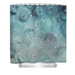 Raindrops Shower Curtain by Patricia Olson