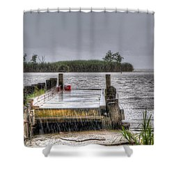 Shower Curtain featuring the photograph Rained Out by Charlotte Schafer