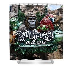 Rainforest Shower Curtain by David Nicholls