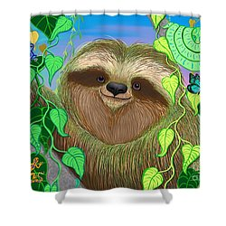 Rainforest Sloth Shower Curtain