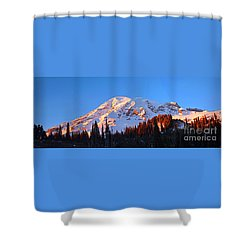 Rainier Sunset Shower Curtain