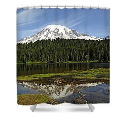 Shower Curtain featuring the photograph Rainier's Reflection by Tikvah's Hope