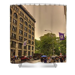 Raining At Nyu Shower Curtain by David Bearden