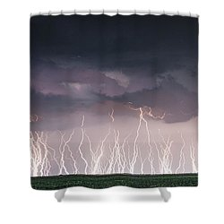 Raining Electricity Shower Curtain