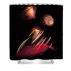 Raining Fire At Midnight Above 14000 Feet Shower Curtain