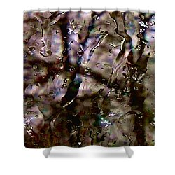 Shower Curtain featuring the photograph Rainscape - Rain On The Window Series 3 Abstract Photo by Marianne Dow