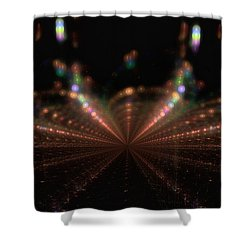 Rainy City Night Shower Curtain by GJ Blackman