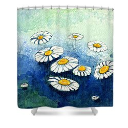 Rainy Daisies Shower Curtain