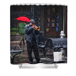 Rainy Day Blues New Orleans Shower Curtain
