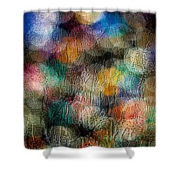 Rainy Day Christmas Shower Curtain by Aaron Aldrich