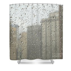 Rainy Day City Shower Curtain by Ann Horn