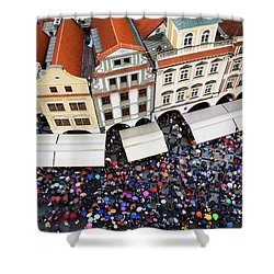 Rainy Day In Prague-1 Shower Curtain by Diane Macdonald