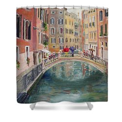 Rainy Day In Venice Shower Curtain