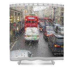 Rainy Day London Traffic Shower Curtain