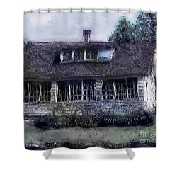 Rainy Day Long Ago House Shower Curtain by RC deWinter