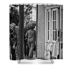 Rainy Day Lunch New Orleans Shower Curtain by Kathleen K Parker