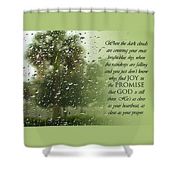 Rainy Day Promise Shower Curtain by Carolyn Marshall