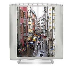 Rainy Day Shopping Shower Curtain