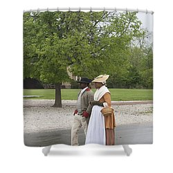 Rainy Day Walk Shower Curtain by Teresa Mucha