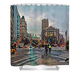X-ing Broadway Shower Curtain