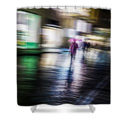 Shower Curtain featuring the photograph Rainy Streets by Alex Lapidus