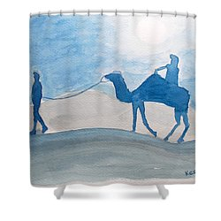 Rajasthani Blues Shower Curtain