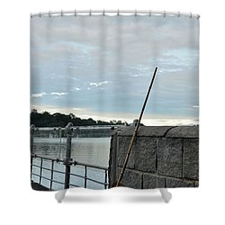Shower Curtain featuring the photograph Rake Rests Itself After A Hard Days Work by Imran Ahmed