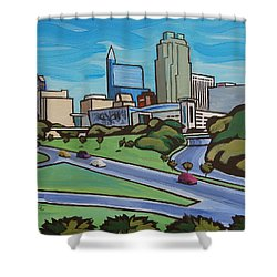 Raleigh Skyline 2 Shower Curtain