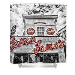 Rama Jama's Shower Curtain by Scott Pellegrin