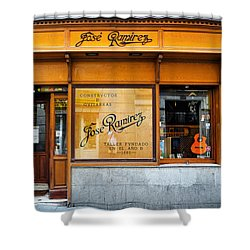 Ramirez Guitars Workshop Shower Curtain
