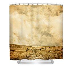 Ranch Gate Shower Curtain by Edward Fielding
