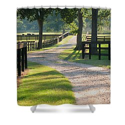 Ranch Road In Texas Shower Curtain by Connie Fox